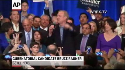 News video: Illinois Picks Quinn, Rauner in Gov's Race